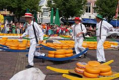 Alkmaar cheese market/ Kaasmarkt in Alkmaar