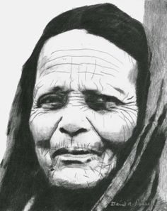 """""""Old Woman"""" Graphite on paper, 8x10"""