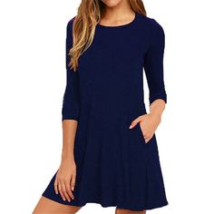 996ee8e2c5198 Topjini 6XL 5XL XXXXL Casual winter Dresses Plus Size Women Dress 2017  Autumn Three Quarter Sleeve