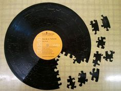 John Denver record turned into puzzle Vinyl Record Crafts, Vinyl Records, Orange Monkey, Play That Funky Music, John Denver, Music Images, Cool Stuff, Take My, Diy Art