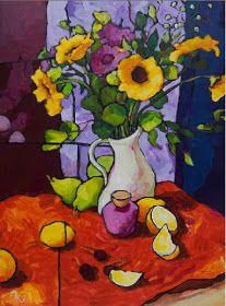 Por amor al arte: Angus Wilson Acrylic Painting Flowers, Abstract Flowers, Painting Still Life, Still Life Art, Art Aquarelle, Watercolor Art, Arte Van Gogh, Wilson Art, Arte Floral