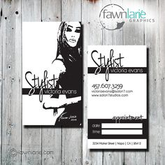 Custom Hair Stylist Business Cards by FawnLarieGraphics on Etsy, $45.00