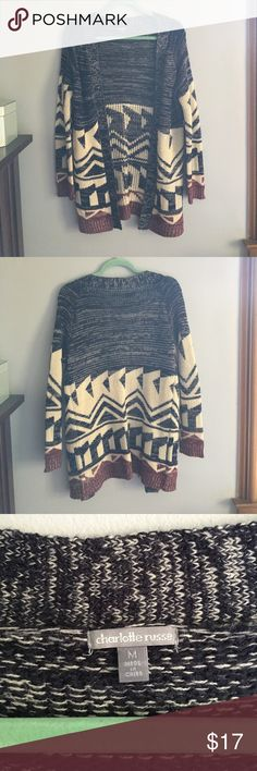 Tribal Open Cardigan This is super cute for early spring or winter. It says it's a M but, fits as a S. Not American Eagle but, just want exposure. Willing to consider offers :) Abercrombie & Fitch Sweaters Cardigans