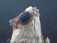 Wire Weave Copper Cuff Bracelet Wire Wrap by DeereRidgeArtStudio