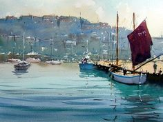 brixham town from the harbour original watercolour by tim wilmot.jpg 488859 557x418 Tim Wilmot