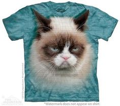 Big Face Grumpy Cat T-Shirt