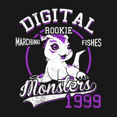 MARCHING FISHES T-Shirt $12.99 Digimon tee at Pop Up Tee!