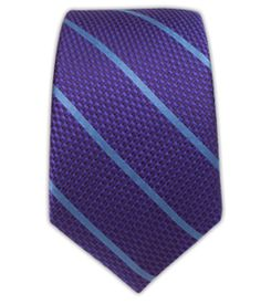 Grenafaux Track Stripe - Purple/Light Blue (Skinny) | Ties, Bow Ties, and Pocket Squares | The Tie Bar