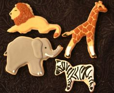 of the better sets of zoo animal cookies I've seen.One of the better sets of zoo animal cookies I've seen. Giraffe Cookies, Lion Cookies, Fancy Cookies, Iced Cookies, Sugar Cookies, Party Animals, Animal Party, Zoo Animals, Zoo Birthday