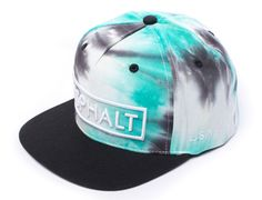 Starburst Black Green Snapback Cap by ASPHALT YACHT CLUB