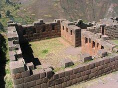 Incan Temple of the Moon.  Pisac, Peru.