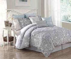 grey paisley comforter - Google Search