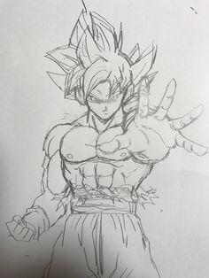 Goku Drawing, Ball Drawing, Anime Drawings Sketches, Anime Sketch, Anime Character Drawing, Dragon Ball Gt, Son Goku, Manga Anime, Pasta