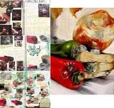 Art- Inside, Outside, Inbetween - Final Idea development Mouldy Food-Oil Paint Lauren Nurse Springwood Highschool A Level Art Sketchbook, Sketchbook Layout, Textiles Sketchbook, Sketchbook Inspiration, Sketchbook Ideas, Advanced Higher Art, Ap Studio Art, Food Painting, Diy Art Projects