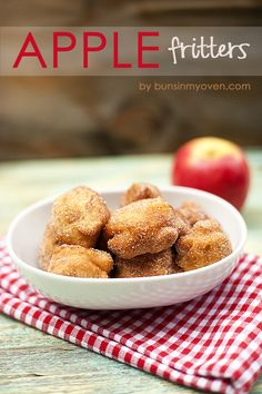 Apple Fritters!  Yummy!  I'd make a caramel dip with these!