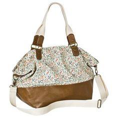 Mossimo Supply Co. Floral Weekender Handbag - Ivory