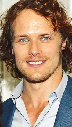 Sweet Jesus his eyes are so blue! Sam Heughan