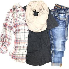 NEW NEW NEW {lightweight layers} ••• flannel $36 | pocket tee $22 | scarf $18 | denim $169 ✿ Come shop our new spring arrivals PLUS new clearance markdowns BOGO 50% OFF! ~ #shophoitytoity