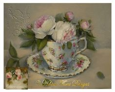 Tea at Trianon - original painting © Hélène Flont‿ ◕✿:
