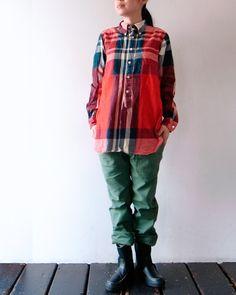 [FWK by ENGINEERED GARMENTS] 19th BD Shirt - Oversized Plaid