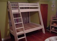 A Collection of Free, DIY Bunk Bed Plans: DIY Life's Bunk Bed Plan