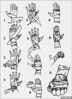 How to wrap your hands. If, you know, you're planning on beating down some fools