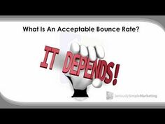 How to Understand Bounce Rate Bounce Rate, Google Analytics, Things That Bounce, Reading, Youtube, Blog, Word Reading, Reading Books, Youtubers