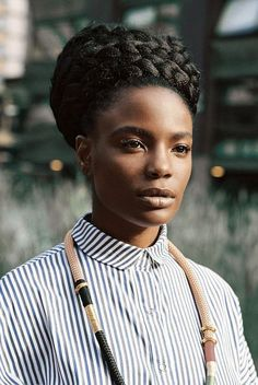 MAKE SOME NOISE: SHINGAI SHONIWA - The Noisette's Frontwoman on the Rhythm of African Fashion Afro Punk, African Hairstyles, Afro Hairstyles, Nice Hairstyles, Hair Afro, Curly Hair Styles, Natural Hair Styles, Twisted Hair, Natural Hair Inspiration