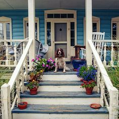 Southern is:  a porch made for friends and family and southern hospitality.