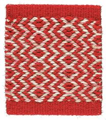Kasthall Ingrid Woven Rug in Red-White