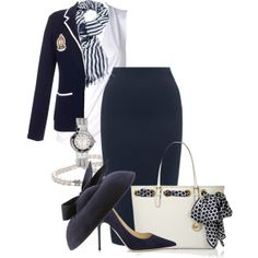 """""""Classic Navy"""" by cavell on Polyvore"""
