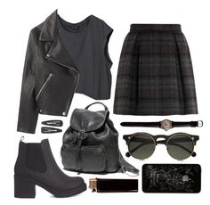 """""""Grunge"""" by encripted ❤ liked on Polyvore featuring H&M, Thom Dolan, Acne Studios, Monki, topsets, black, grunge and fashionset"""