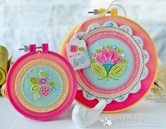Floral Hoops by Betsy Veldman For Papertrey Ink (April 2016)