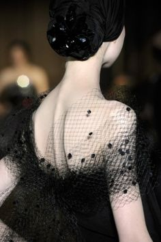 Christian Lacroix - black dress and netting