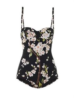 Almond blossom 50s cut swimsuit - Dolce and Gabbana