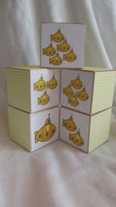 Yellow Chevron Submarine Counting Numbers 5 Nursery Baby Shower Décor Wood by TheBlockSpot, $22.50