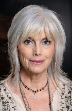 Hairstyles with Bangs for Women Over 50 | trendy gray hair bangs hairstyles for age over 50 hairstyles