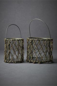 Willow branch lanterns