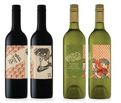 Wine labels.