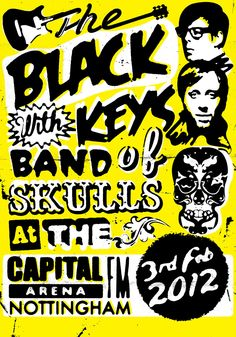 One of my faves! The Black Keys gig poster. $55.00