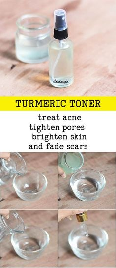 Turmeric Toner to treat acne and brighten skin