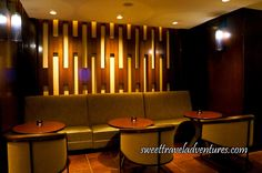 One of the Semi-Private Seating Areas in ONE18 EMPIRE Bar in Calgary, Alberta