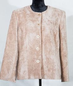 Drapers & Damons women's jacket long sleeve brown size 14 lined #DrapersDamons #BasicJacket