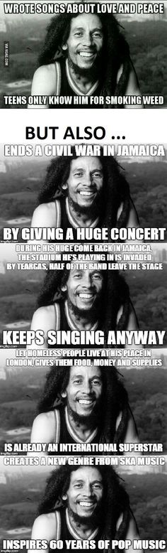 "incaseyuhnevaknow: ""thelayback: "" jcgreen72: "" lomasdope: "" This was Mr. Bob Marley "" you might know him from that poster on your friends wall "" He never gets the credit deserved except for smoking weed smh "" Yo, that peace concert alone should've..."