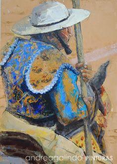 Andrea Galindo. Pintura: PICADORES (I) ACRÍLICO SOBRE MADERA