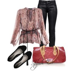 """Black & Red Outfit !"" by stylisheve on Polyvore"