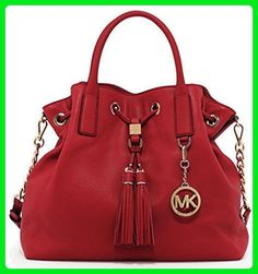 c8a2be109a76 Michael Kors Camden Large Drawstring Satchel Red Leather - Top handle bags  ( Amazon Partner