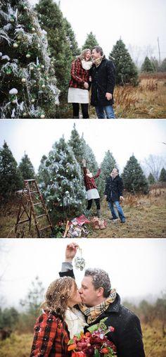 Christmas-themed Farm Engagement Shoot! - Style me Pretty