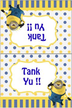 minion thank you card