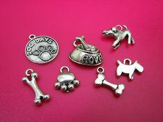 Assorted Dog Charms, on sale today at: http://tophatter.com/auctions/14077